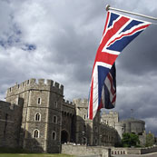 British flag flying at Windsor Castle