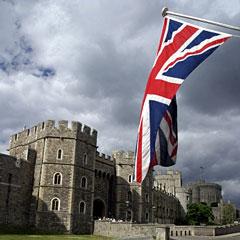 British flag flying at Windsor Castle
